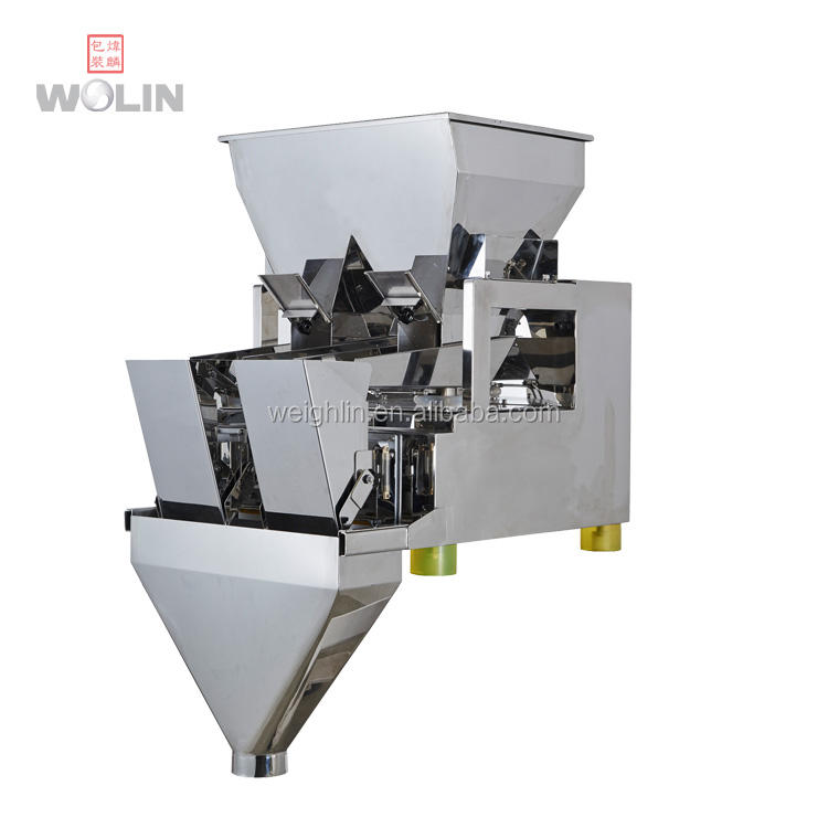 economical automatic intelligent double duel 2 Head linear net weigher scale doser filler for powder, beans, corns, pet food nut