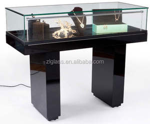 best popular antique oval mirror jewelry showcase/acrylic display case