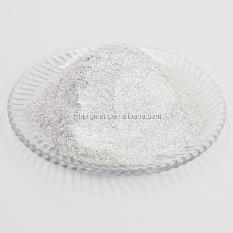 Shimmering Silver White Pearl Pigment, Mica Flake for Decorative Coating