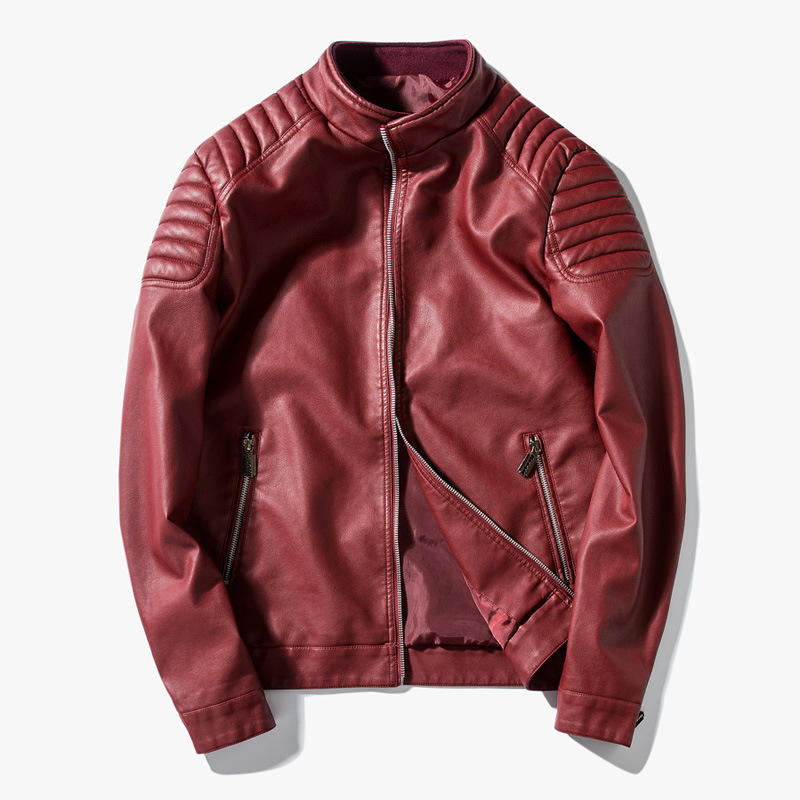 Amazon Hot Sale Spring Mens Casual Jacket Mens PU Leather Jacket