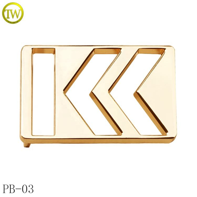 Customized metal buckle shinny gold adjustable belt buckle for men