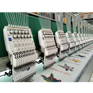 Yonthin Brand Flat Chain Stitch Cap Computer Embroidery Machine Price with Sequin
