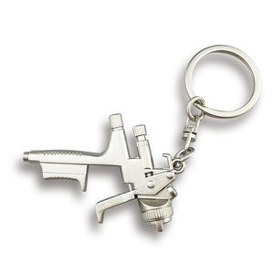 Custom logo water spray gun shape metal keychain for promotional gifts