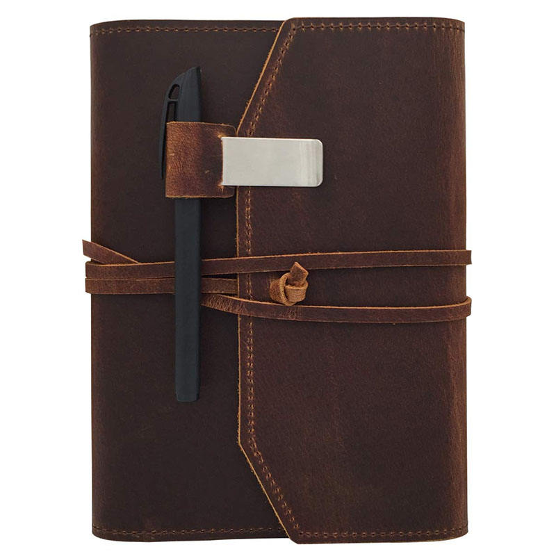 Leather Notebook Journal Refillable Travel Journal Hand Crafted Genuine Leather Perfect Gift for Men or Women Writing