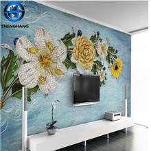 Free shipping Home interior decoration 3d 5d 8d 10d  wallpaper for living room or bedroom