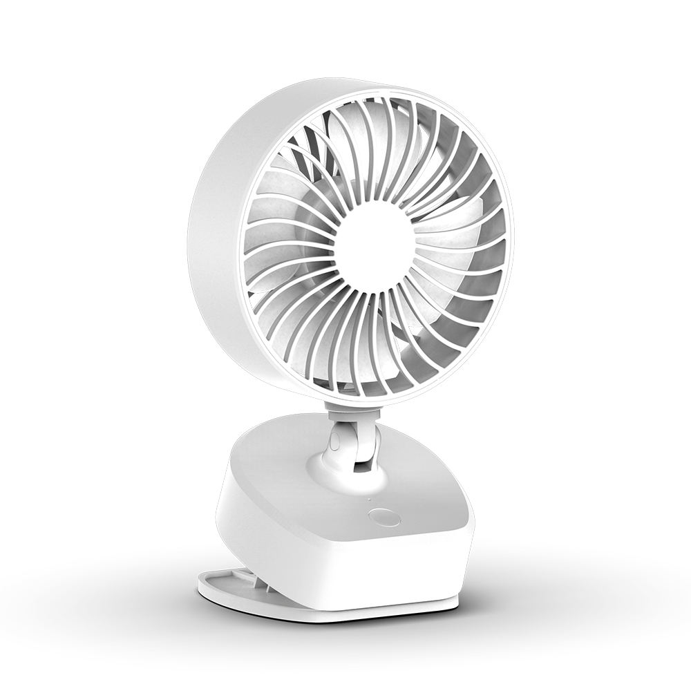 WANGCHAO USB Sports Portable Fan 360/° Air Outlet Adjustment 3 Kinds of Wind Speed Headphone Design USB Rechargeable Mini Fan Suitable for Outdoor Office,White