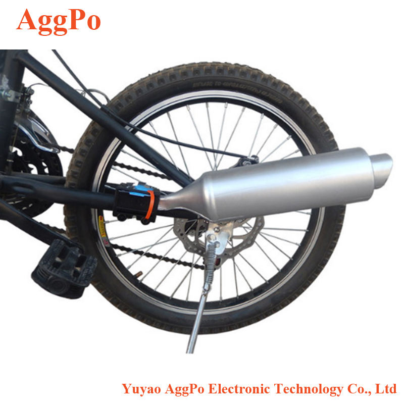 Mountain Bike Turbo Pipe Exhaust System Bicycle Exhaust System, Bicycle Turbo Bike Motorcycle Sound Fun Motorcycle Sounds
