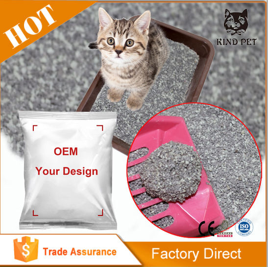 New 2X absorption bentonite clumping cat litter with low tracking