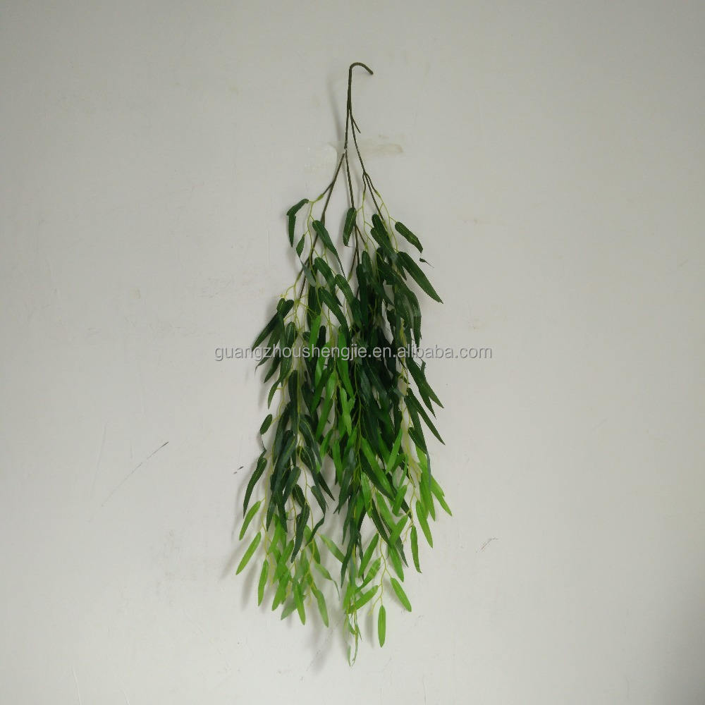 Decorative Artificial Weeping Willow Leaves Branches for Garland