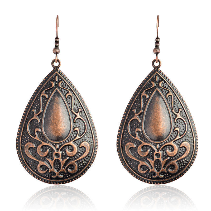 Vintage fashion Big Water drop Dangle Earrings Bohemia danglers Charms Drop Earrings Women Eardrop Ear Jewelry