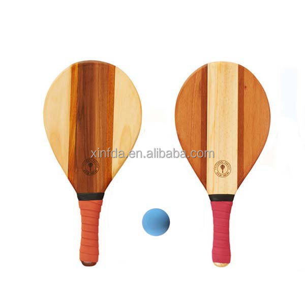 Beach Equipment Professional Beach Bat / Paddle / Racket fot Training Wooden Beach Racquet