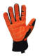 CE 4232 oil and gas western safety gloves, Impact Gloves, PVC Dots Non Slip Synthetic Leather Safety Gloves