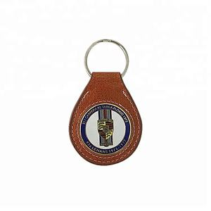 Leather Keychain  Cheap Custom Metal Keychain Leather  Wholesale Leather Key chain