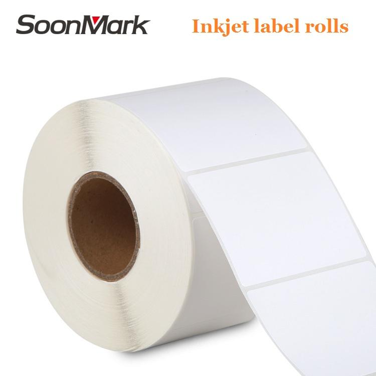 Waterproof adhesive printing roll high glossy inkjet coated matte label sticker paper
