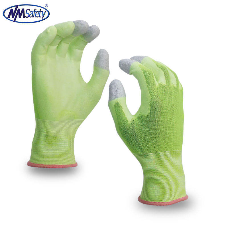 NMSAFETY 18 gauge nylon 면 싼 wholesale custom 씬 Touch Screen Glove