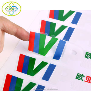 Custom Jelas PVC transparan sticker label printing