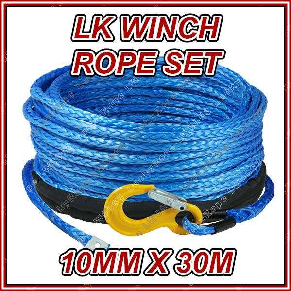 4x4 off-road synthetic winch rope braided rope LW0063