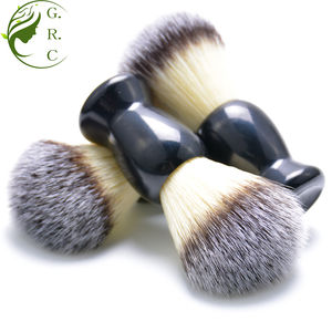 Hign Quality Customized Private Label Cheap Black Color Resin Handle Baber Men Synthetic Vegan Pure Badger Hair Shaving Brush