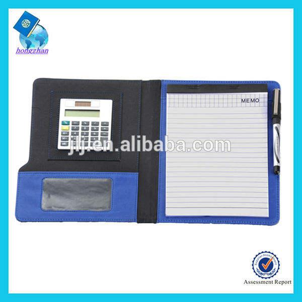 الأعمال محفظة جلدية سستة مع آلة حاسبة