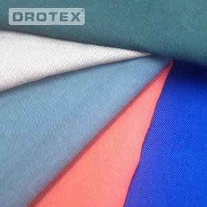 Wholesale Combed 100% Cotton 350GSM 4/1 Sateen Flame Retardant Antistatic Fabric Yard for Protective Suit