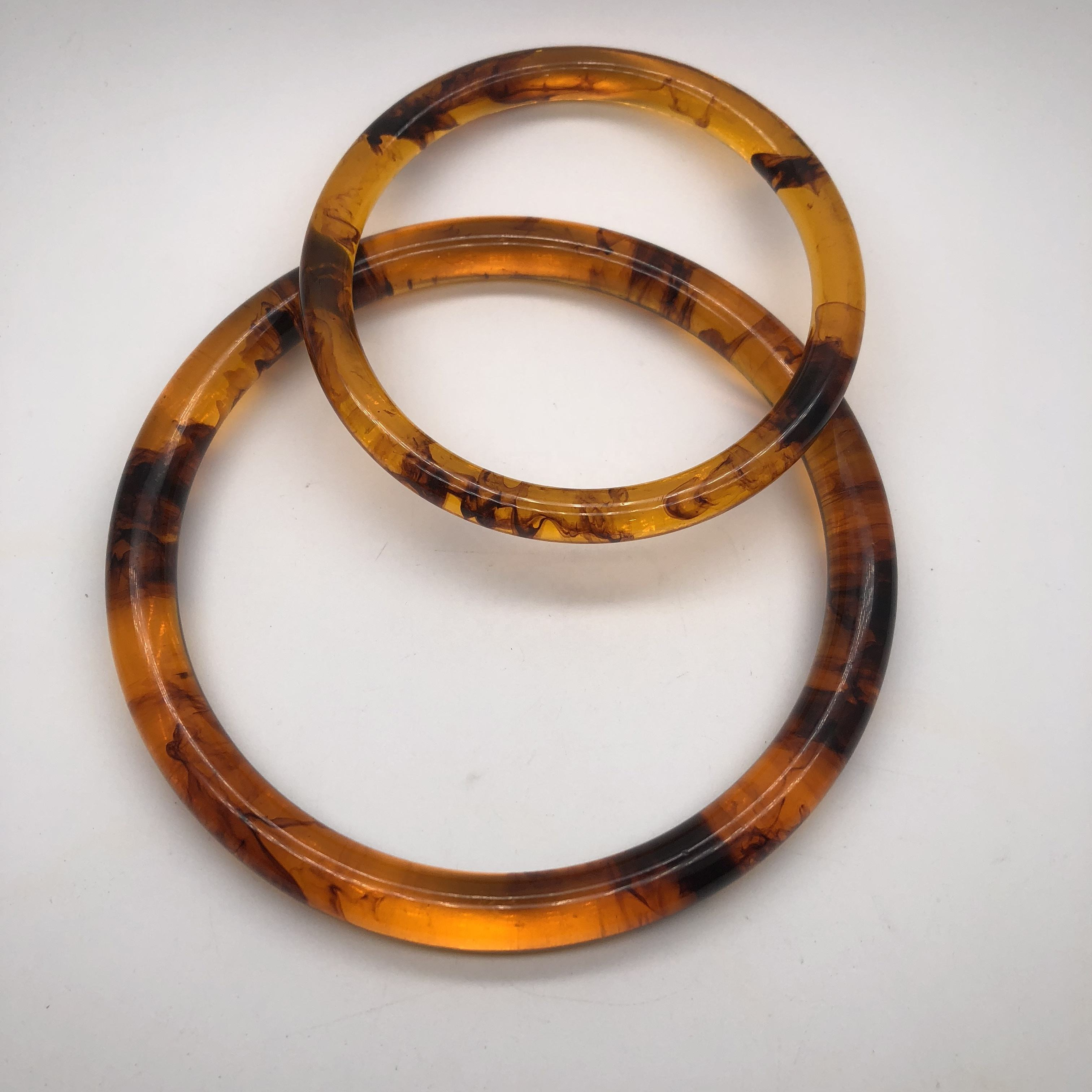 Tortoise shell clutch hand bag handle Resin O-ring and D-ring lucite color handbag parts and garments accessories