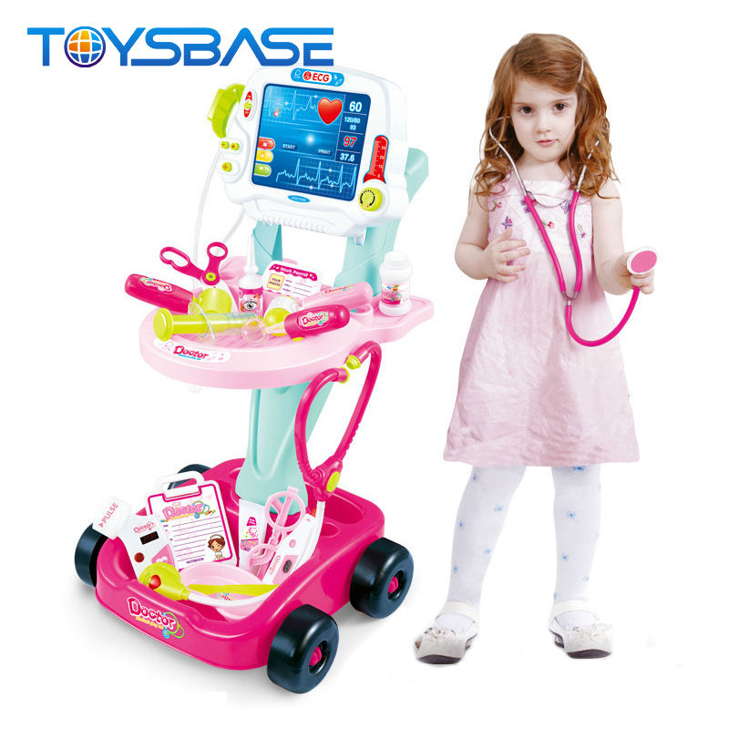 Chinese Play Set Plastic Toy Kids Doctor Set Cart Children Doctor Play Set