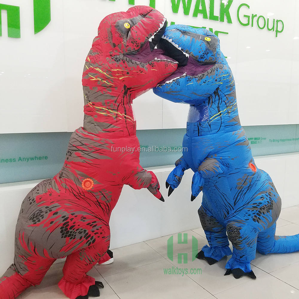 New t rex adult inflatable 5 different colour inflatable dinosaur costume life size dinosaur costume