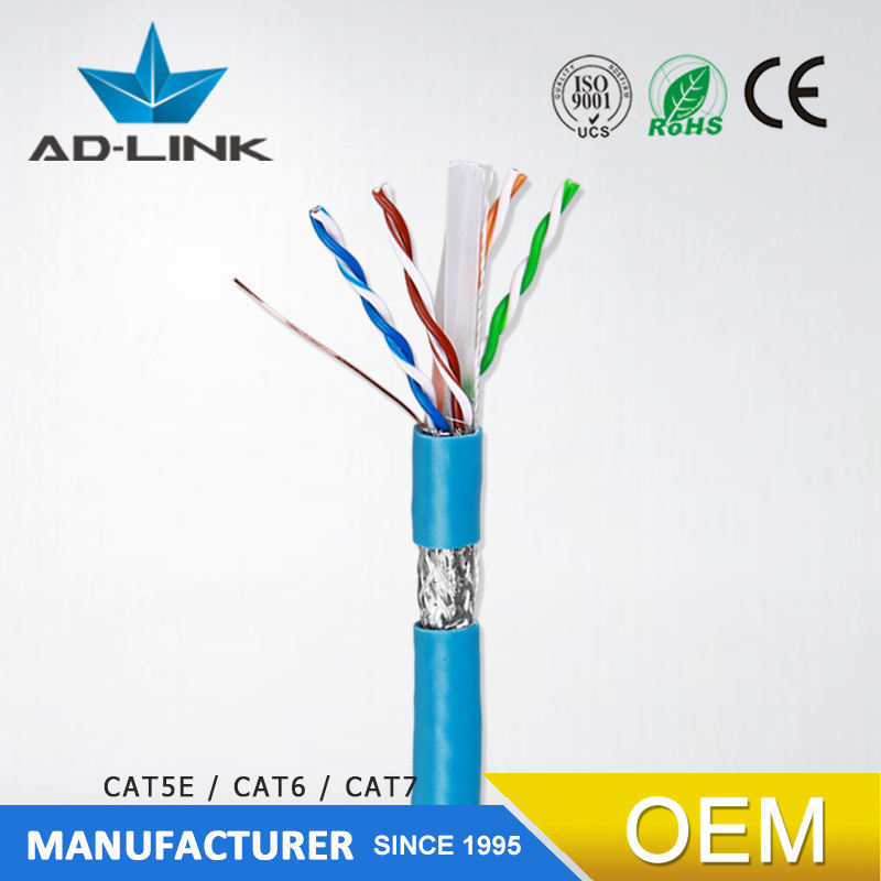 Cat 6e cable sftp double shielded ethernet cable 100m 305m package