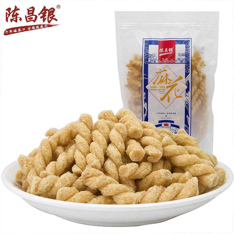 Chinese traditional pastry grain Fried dough twist Vegan Snack 300g
