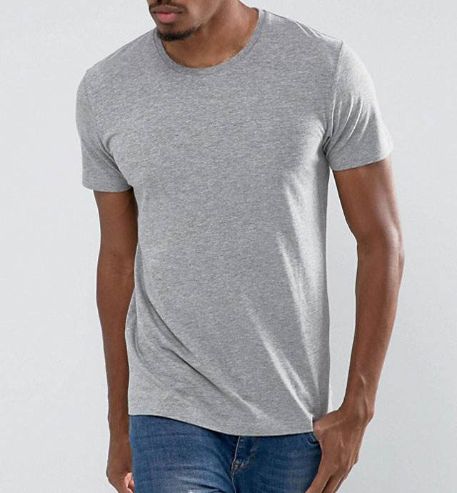 slim fit gray tshirt for men to print custom plain pima cotton t shirt