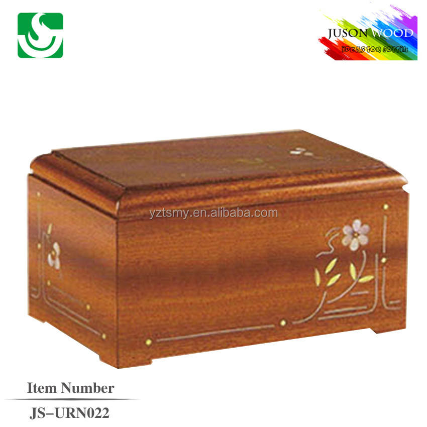 antique decorative cremation small wood boxes