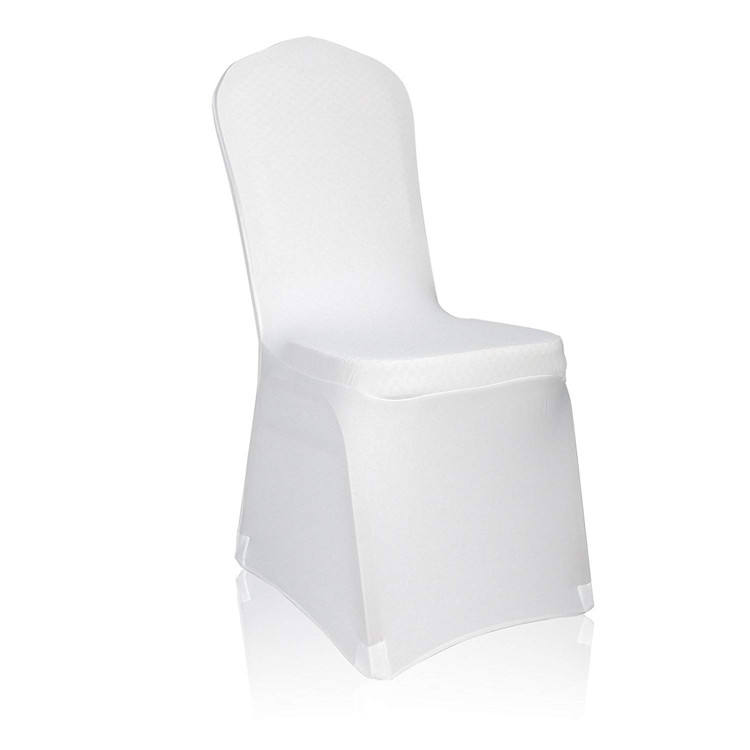China manufacture chair cover spandex,home decor cheap white chair cover
