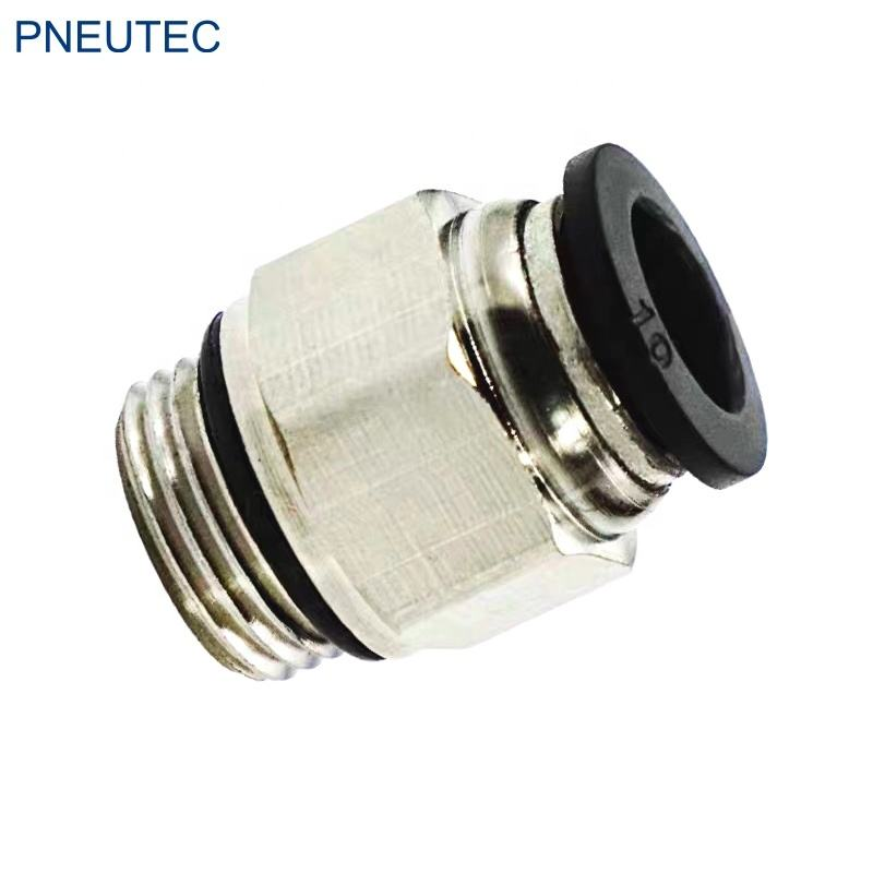 male thread straight PC6-G01 6mm G1/8 brass pneumatic hose fitting for NYLON tubing