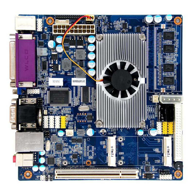 Intel Atom N550/N475/N455/D425 processori mini itx scheda madre industriale 1 * MINI slot PCIE