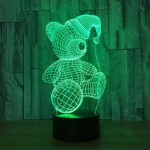 Zogift LED flashing changing lamp 3D cool shaping night light