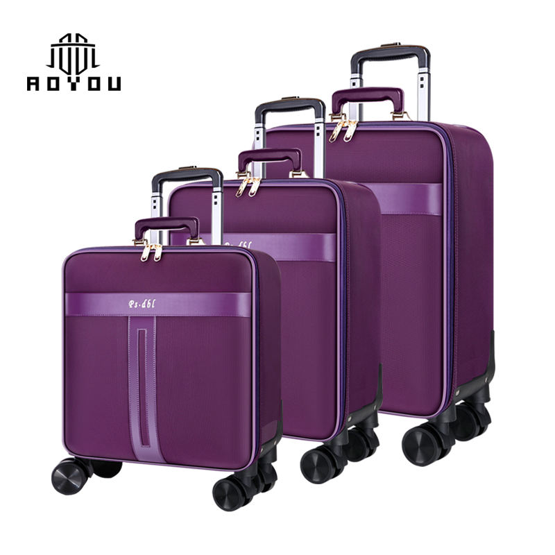 3pcs 16/20/24 inch Oxford suitcase set, business tie-rod suitcase, three pieces luggage sets