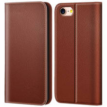 Ultra Slim Premium Cover Case Genuine Leather Wallet Case For Iphone 6 Plus