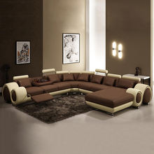 sofa set furniture Genuine Leather Big Couch 7 Seater Sofa Sectional Living Room Home Furniture Combination Arc Sofa Set Corner sofas, sectionals