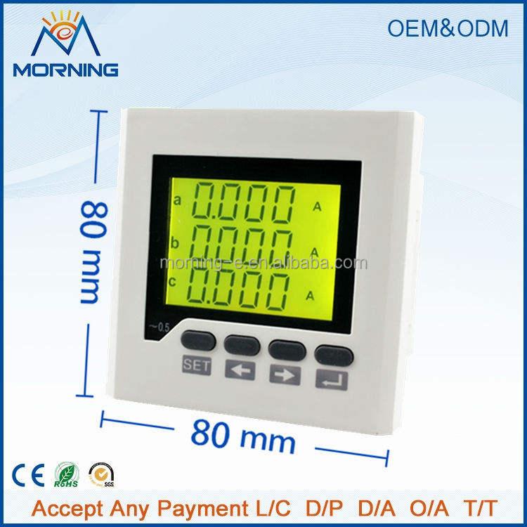 Me-3aa7y 80 * 80 mm súper ventas <span class=keywords><strong>pantalla</strong></span> LCD trifásico Digital AC Current meter, medir corriente AC con alta precisión