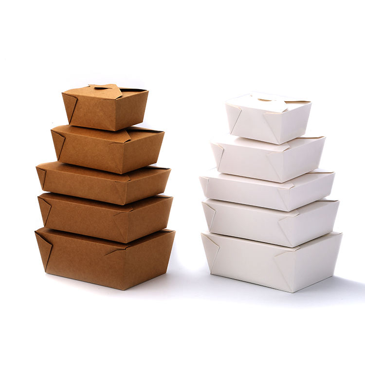 China supplier printed disposable take away paperboard food boxes