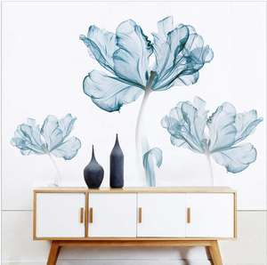 Decoration Stickers & Murals Home for Living Room Flower Wall Decals Improvement Paint Wall Treatments wall Vinyl Pvc Sticker