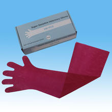 Biodegradable plastic disposable long gloves good sensitive veterinary gloves