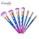 7 pieces cosmetic makeup brushes plastic handle high quality