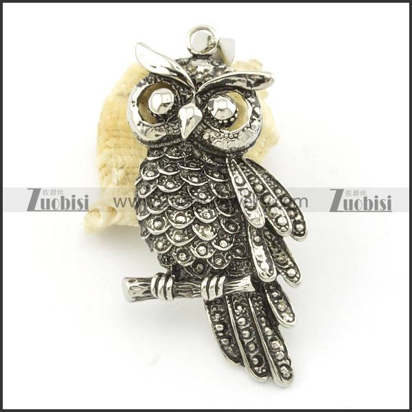 싼 price 인기있는 charm necklaces 보석 stainless steel owl diamond 펜 던 트