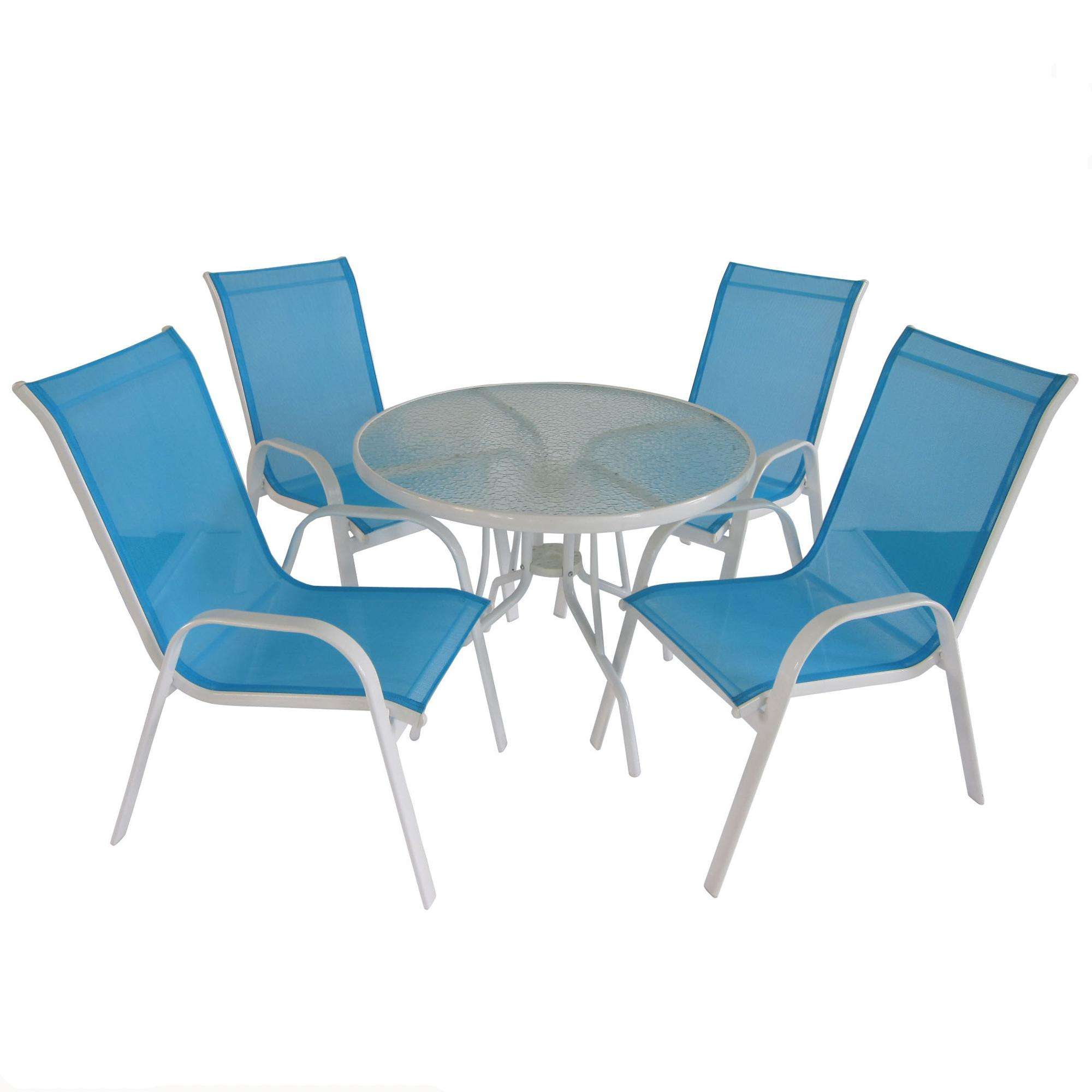 steel garden set 1 table 4 chairs garden dining set
