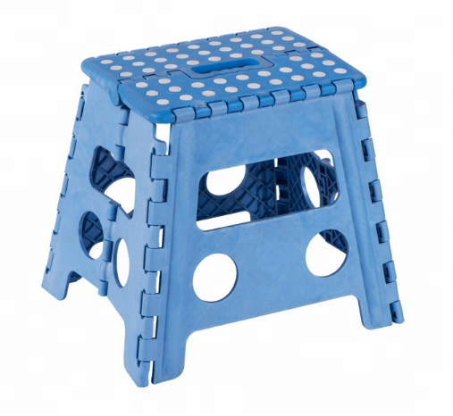 Factory price small non-slip surface foldable step stool