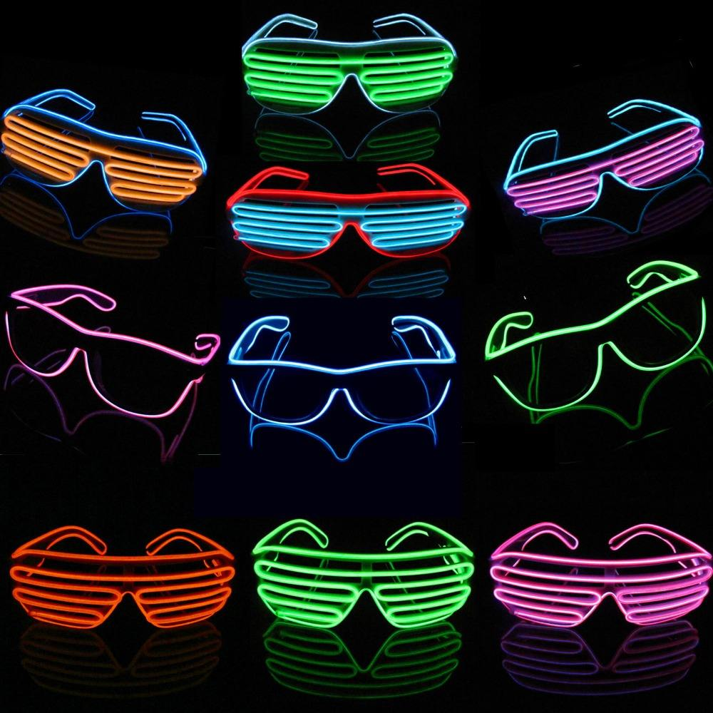 Halloween party flashing el shutter glasses
