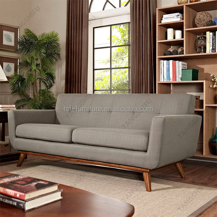 2017 newest Elegant Upholstered Love seat in Grey sofa for home furniture