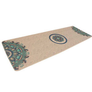 Eco Friendly Amazon Cork Free Sample Anti Slip Natural Organic Jute Exercise Fitness Printed Custom Yoga Mat