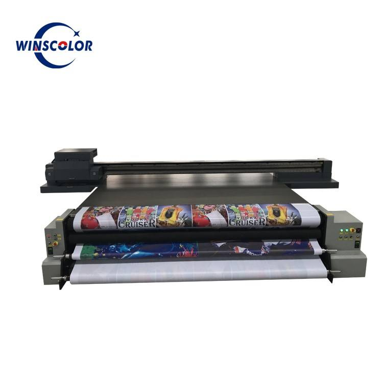 Industrial digital flex banner printing machine uv hybrid printer best price for sale